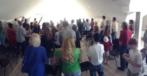 Opening the new building with worship