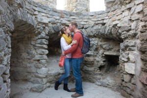 We kissed in a castle!