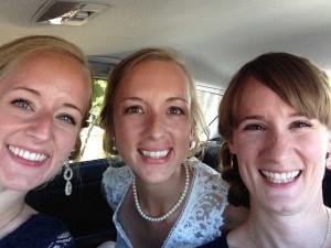 16 sisters at wedding