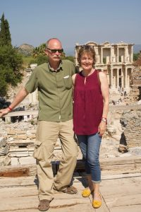 With my parents at the library of Celsus in Ephesus.